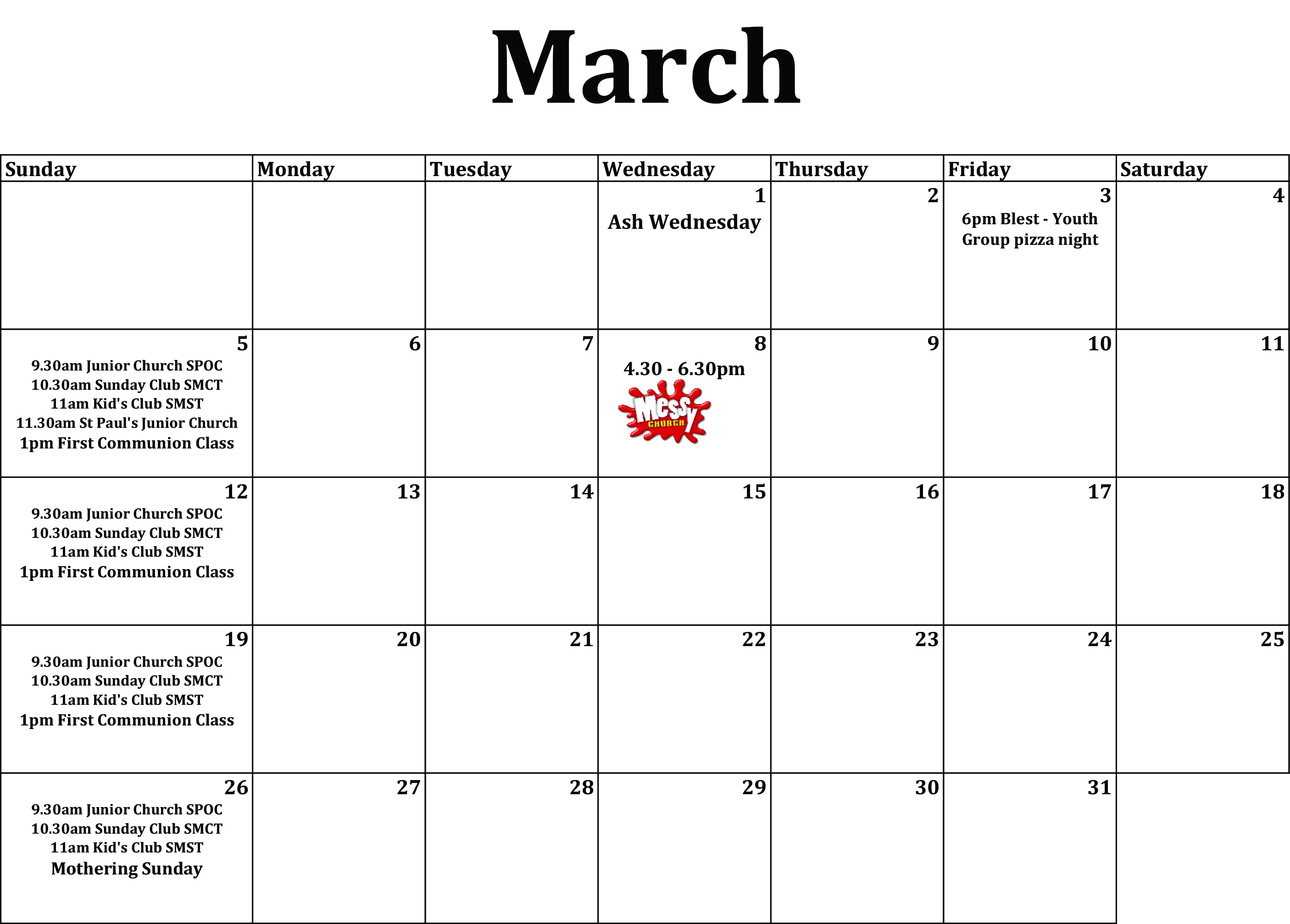 March diary